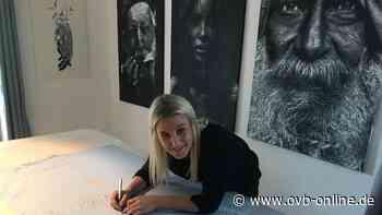 Anja Zeilinger aus Stephanskirchen schafft Stencil-Art, Bilder mit Schablonen-Technik | Rosenheim Land - Oberbayerisches Volksblatt