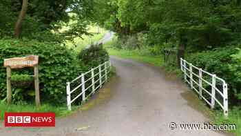 Man died when lawnmower fell 10ft into river - BBC News