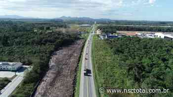 Duplicação da BR-280: nova frente de obras prepara viaduto em Araquari - NSC Total