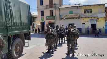 La Libertad: Soldados llegan a Santiago de Chuco para hacer cumplir cuarentena - LaRepública.pe