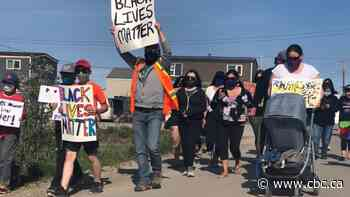 Inuvik residents march for Black Lives Matter and ask for change - CBC.ca