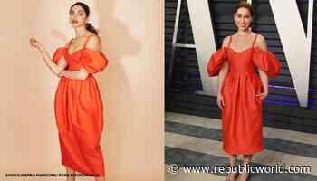 Deepika Padukone or Emilia Clarke: Who wore red drama-sleeve dress better? - Republic World - Republic World