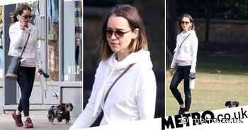 Emilia Clarke's puppy eager to explore as she takes him on a walk - Metro.co.uk