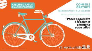 Atelier d'autoréparation vélo à Canteleu parvis de l'hôtel de ville mercredi 1 juillet 2020 - Unidivers