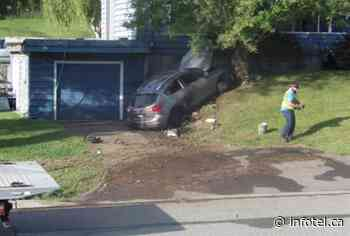 Person taken to hospital after crashing into Valleyview front yard - iNFOnews