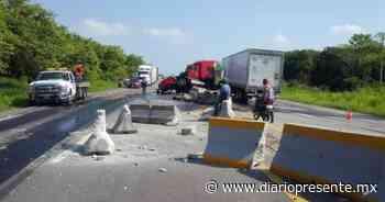 Alerta vial en ambos sentidos por choque en la carretera Villahermosa-Macuspana - Diario Presente