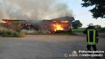 Brand zerstört Lagerhalle bei Boizenburg - Nordkurier