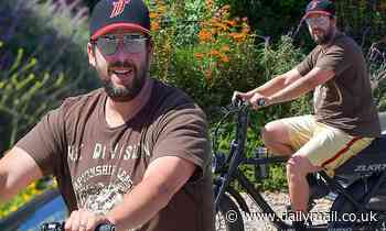 Adam Sandler steps out solo and takes a ride on a Zugo electric bike in Malibu - Daily Mail
