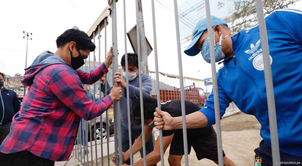 Ministerio de Cultura instala vallas de seguridad en Cantagallo - LaRepública.pe