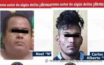 Detienen a dos hombres por distintos delitos en Ometepec y en Cocula - El Sol de Acapulco