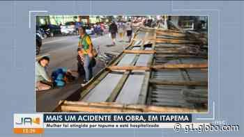 Mulher sofre fraturas após queda de tapumes de obra em Itapema - G1