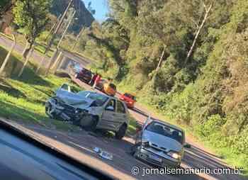 Acidente deixa três pessoas feridas no interior de Garibaldi - jornalsemanario.com.br
