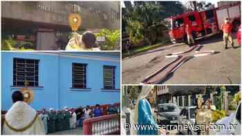 Passagem do Santíssimo Sacramento pelas ruas de Cantagalo emociona fiéis - Serra News