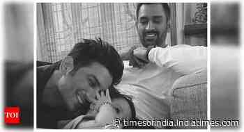 THIS throwback picture of Sushant Singh Rajput with Mahendra Singh Dhoni's daughter Ziva is simply too sw - Times of India