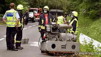 Hilchenbach: Fahrer verliert Stromaggregat vom Anhänger - Westfalenpost