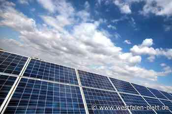 Parteien haben Photovoltaik im Blick - Westfalen-Blatt