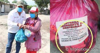 Ordena IEE a edil de Palmar de Bravo no lucrar con la pandemia, tras promoverse con despensas (FOTOS) - MTPNoticias