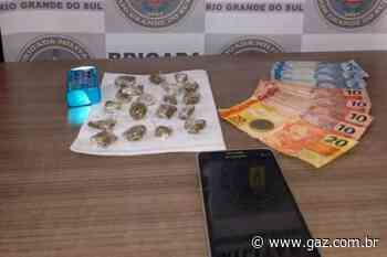 Brigada Militar prende jovem por tráfico de drogas em Cachoeira do Sul - GAZ