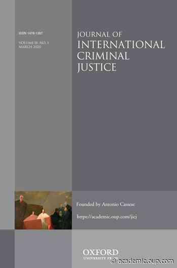 Journal of International Criminal Justice Prize 2019