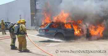 Car engulfed in flames in Melfort - Humboldt Journal