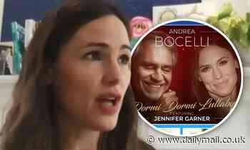 Jennifer Garner says she cried as she got to sing alongside Andrea Bocelli for special album - Daily Mail