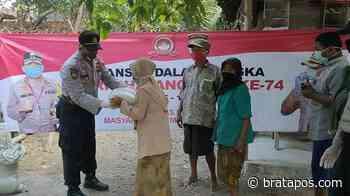 Polsek Guntur Peduli Bagikan Bansos Sambut HUT Bhayangkara Ke-74 Di Desa Sidoharjo - Wartawan.sarbin.k