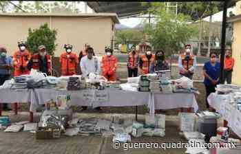 Dona Media Luna equipo de protección Covid a comunidades de Cocula - Quadratín Michoacán