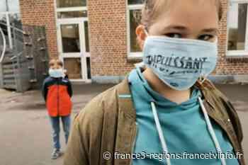 """VIDÉO. Covid-19 : """"Prisonniers pour notre santé"""", des écoliers d'Haubourdin chantent leur ressenti dans un cli - France 3 Régions"""