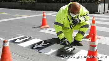 La señalización de la nueva movilidad de Granada, casi al completo - Granada Hoy