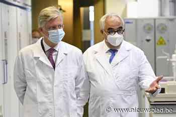 Koning Filip bezoekt labo's bij Janssen Farmaceutica