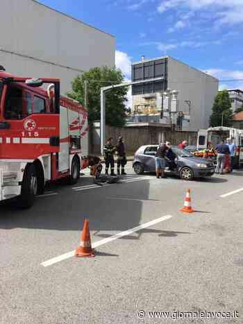 SETTIMO TORINESE. Incidente davanti alla Lavazza, due feriti - giornalelavoce