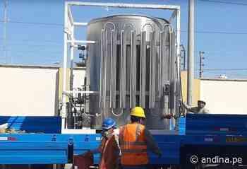 Fondo social del puerto de Paracas dona una planta de oxígeno al hospital de Pisco - Agencia Andina