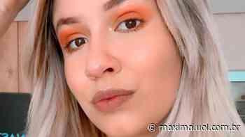 """De biquíni, Marilia Mendonça curte dia de piscina e brinca com internautas: """"Invejosos dirão que tá frio"""" - Máxima"""