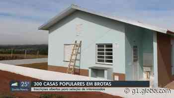 Brotas abre inscrições para o sorteio de 300 moradias populares da CDHU no Jardim Santa Maria - G1