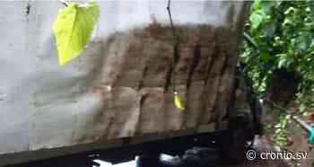 Dos muertos al impactar camión con un paredón en Jujutla, Ahuachapán - Diario Digital Cronio de El Salvador