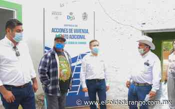 Más de 30 acciones de vivienda en Panuco de Coronado - El Sol de Durango