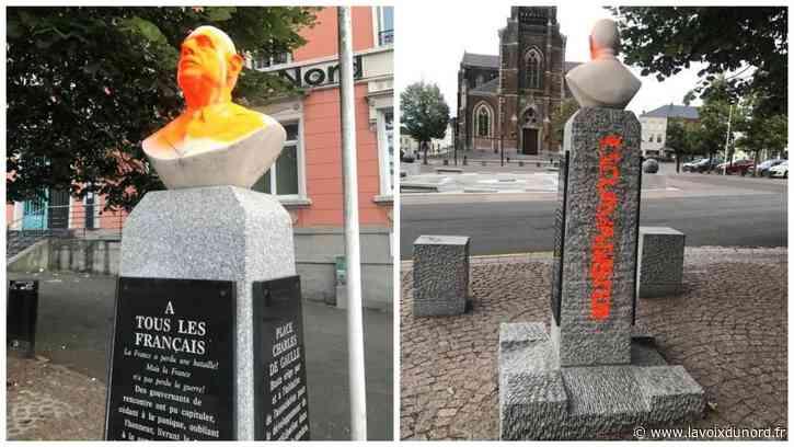 Un buste du général de Gaulle vandalisé à Hautmont - La Voix du Nord