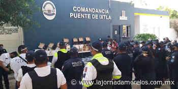 Entregan equipos para la policía en Puente de Ixtla - La Jornada Morelos