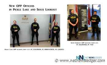 New OPP Constables In Pickle Lake and Sioux Lookout - Net Newsledger