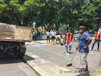 Ayuntamiento Dajabón inicia señalización calles y pintura de policías acostados - El Masacre