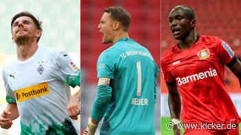 Die kicker-Elf des Spieltages: Drei Gladbacher, vier Debütanten