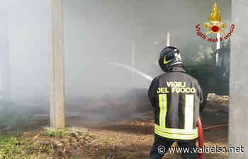 Monteriggioni Rotoballe Fieno incendio - Valdelsa.net