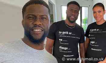 Kevin Hart and pregnant wife Eniko don 'Together We Change' t-shirts in support of racial justice - Daily Mail