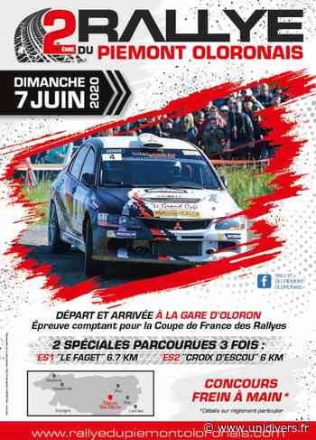 2ème Rallye Régional Asphalte du Piémont Oloronais – annulé dimanche 7 juin 2020 - Unidivers