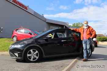 Philippe et sa Honda Civic au Garage Du Clos à Linas - Turbo.fr