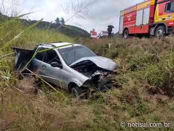 Motorista perde o controle da direção na SC-390, em Orleans - Notisul