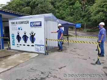 Porto de Antonina tem cabine de desinfecção para proteção contra o novo Coronavírus - Folha do Litoral News
