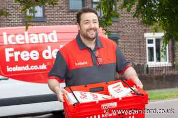 Jason Manford starts working for Iceland as a delivery driver - Evening Standard