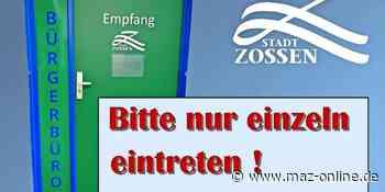 Kommunalpolitik - Bürgerbüro Zossen öffnet ab Donnerstag - Märkische Allgemeine Zeitung