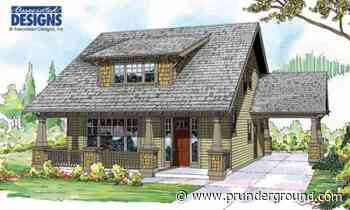 Associated Designs – Blue River Craftsman House Plan Blends Charm with Function - PRUnderground